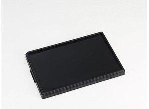 Rako-klemdeksel met rubber dichting, spatwaterdicht, reukbeperkend, zwart