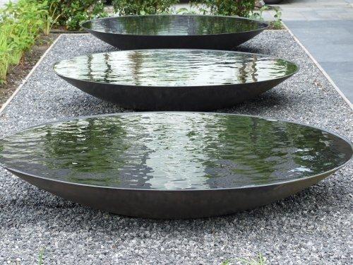 Waterschaal Antraciet 100 cm.