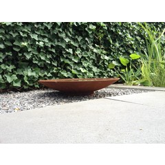 Waterschaal Cortenstaal 60 cm.