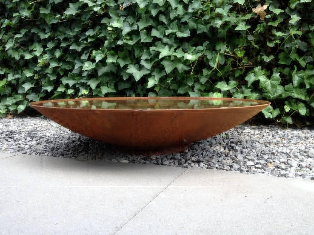 Waterschaal Cortenstaal 80 cm.