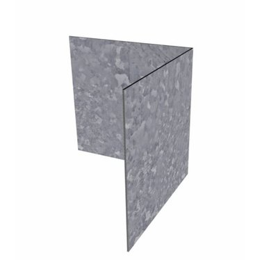 Hoek kantopsluiting verzinkt staal recht