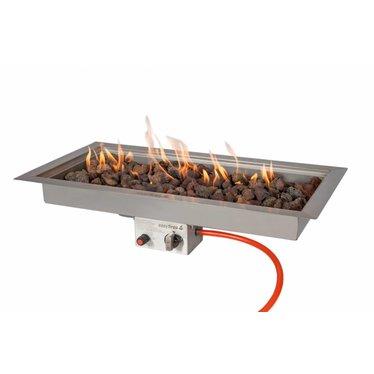 Easy Fires inbouwbrander rechthoek 78x38x16,5cm.