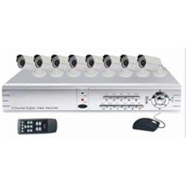 SecuEasy Basic 8 Set DVR, VGA aansluiting met 8 HD Digital bullet camera`s
