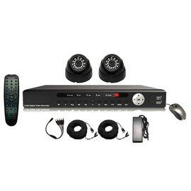 Pro2 Set, 4 kanaals DVR met HDMI aansluiting en 2 professionele bewakingscamera´s