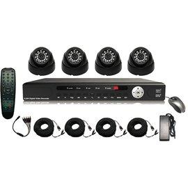 Pro4 Set, 4 kanaals DVR met HDMI aansluiting en 4 professionele bewakingscamera´s