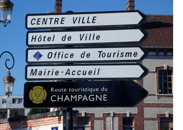 Route touristique du Champagne - routewijzer in Epernay