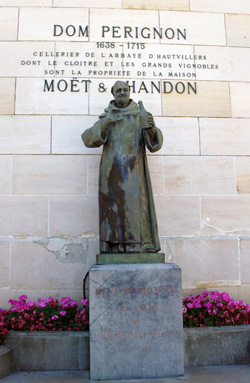 Dom Perignon voor het champagnehuis Moet & Chandon in Epernay
