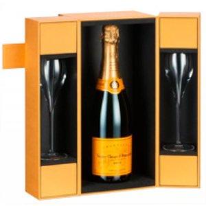 Veuve Clicquot Set met 2 flutes in geschenkdoos
