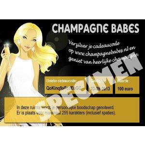 Champagne Babes €100 cadeaukaart