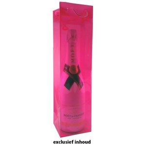 Draagtas fuchsia roze kunststof met hengsels
