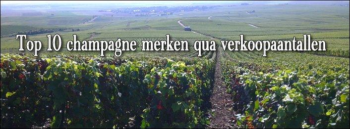 Top 10 champagnemerken 2012