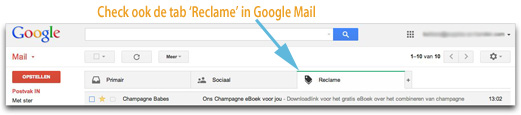 Zoek de mail op in Google Mail