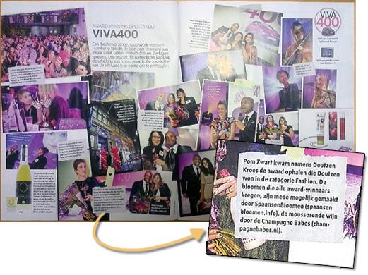Champagne Babes bij het VIVA400 event