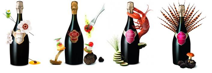 Gastronomische champagnes van Gosset
