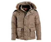 PEAK Sport Winterjas in kleur Dark Khaki