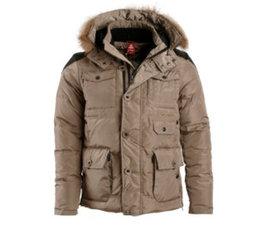 PEAK Sport Winterjas in de kleur Khaki - Style F5241071