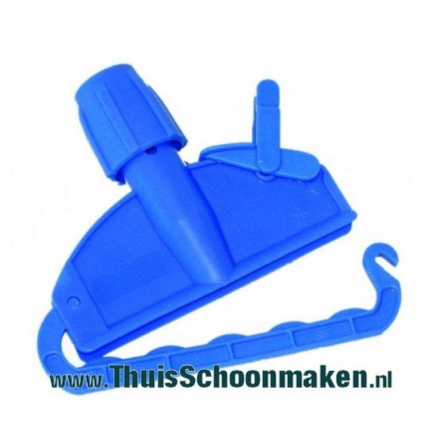 Mopklem kunststof (blauw)