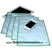 Set Smartphone - Tablet Schoonmaken (4 stuks Greenspeed Glasdoek 25 x 20 cm)