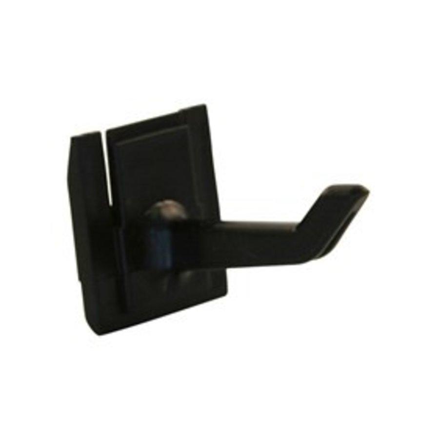 haak 25 mm (set à 5 stuks, zwart)