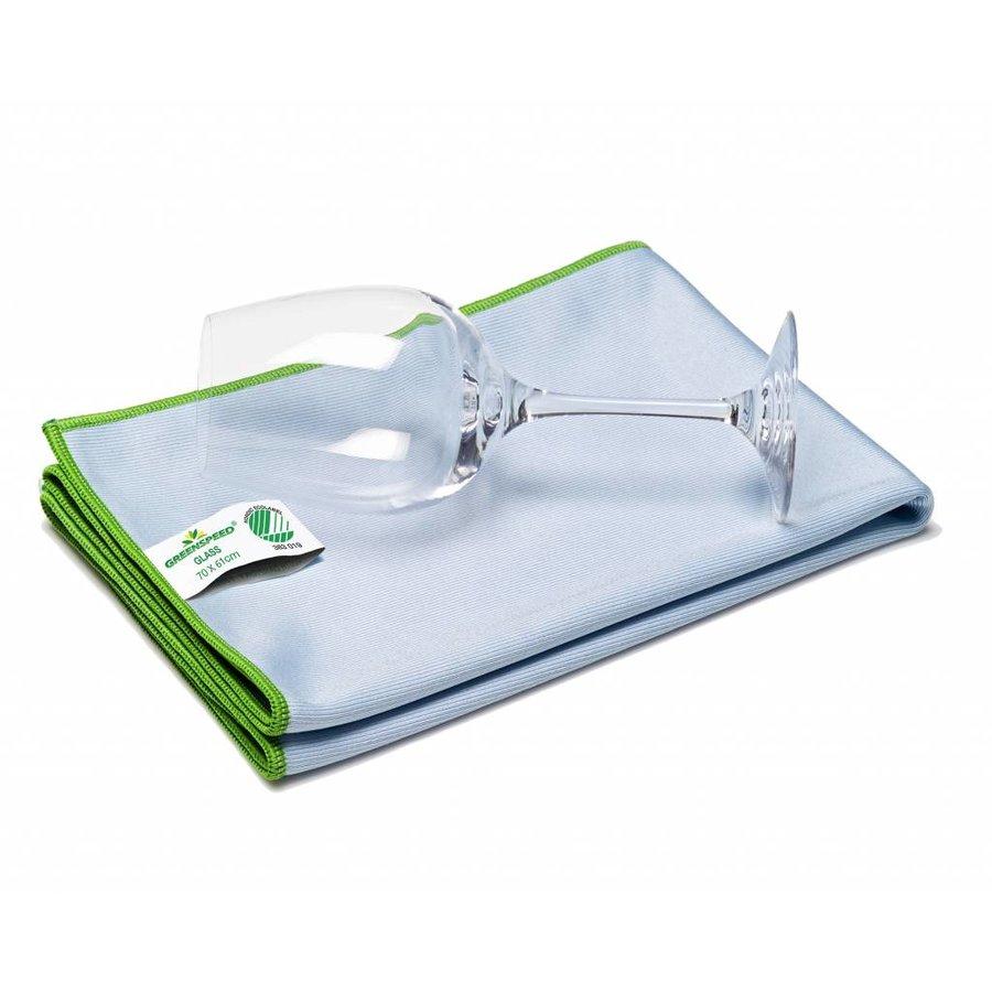 Glastuch (Poliertuch) 70 x 61 cm - Blau