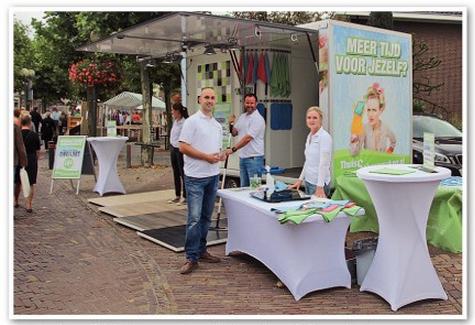 Stand ThuisSchoonmaken.nl tijdens Heesch Presenteert