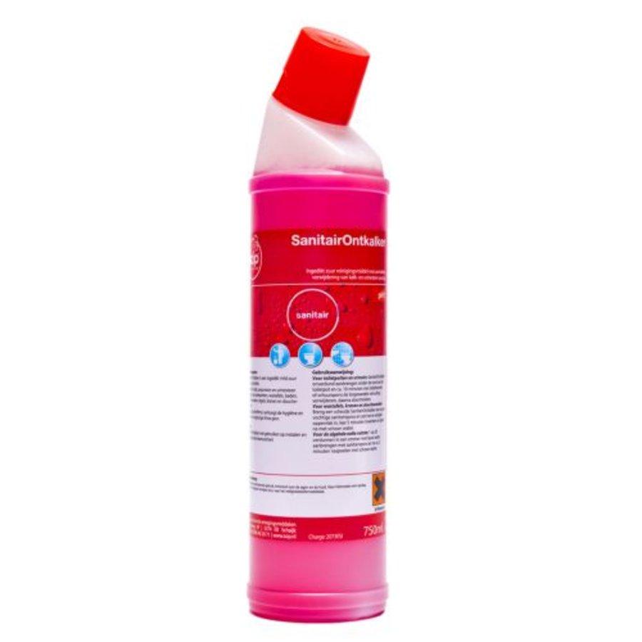 SanitairOntkalker (fles à 750ml) met schuine hals