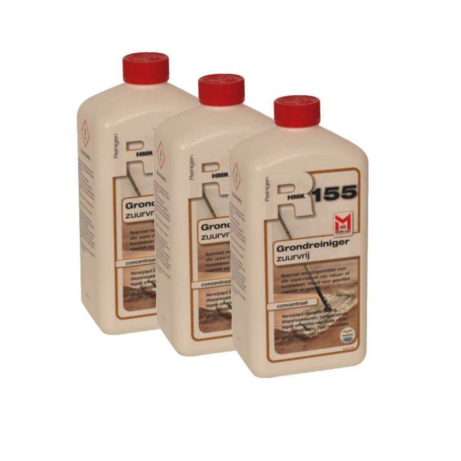 R55 / R155 Grondreiniger zuurvrij (3x 1 liter fles) voordeelpakket