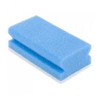 Schuurspons met handgreep en schuurpad - Blauw