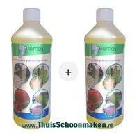 Biomos | Grünbelagentferner | 2 Flaschen à 1 liter