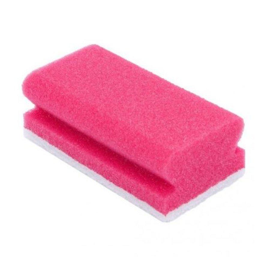 Schuurspons met handgreep en schuurpad  - Rood