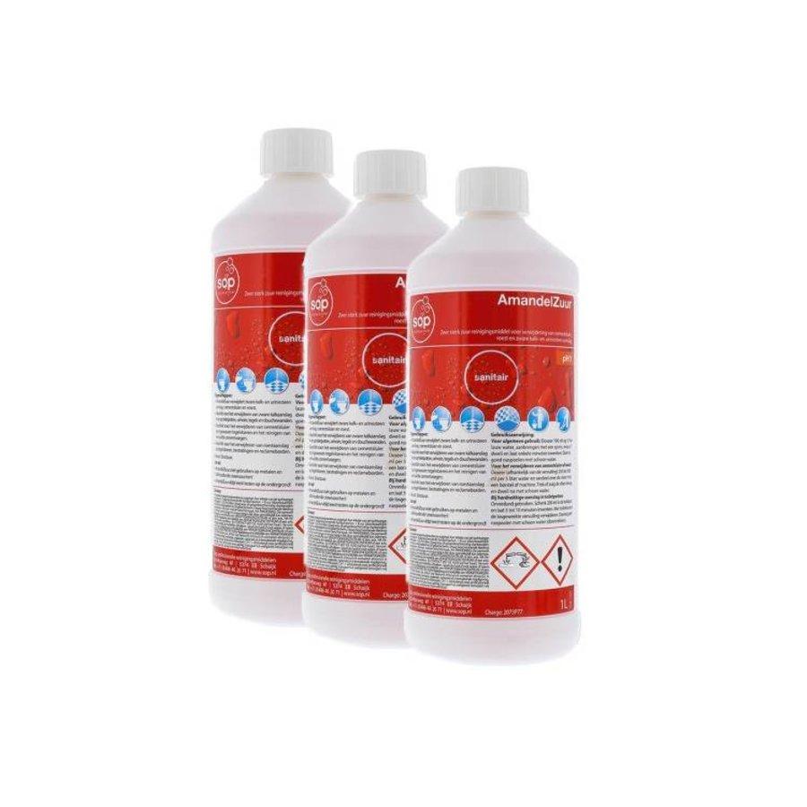 Amandelzuur (3x 1 liter fles) voordeelpakket