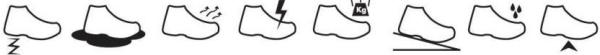 Bescherming opgesomd in symbolen