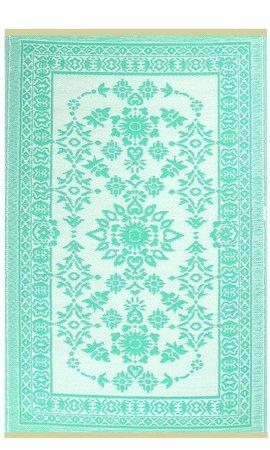Turquoise buiten vloerkleed
