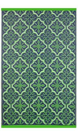 Groen paars vloerkleed