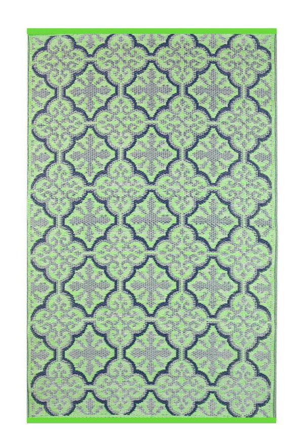 Groen paars vloerkleed boho