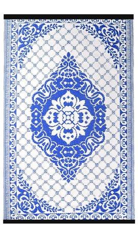 Wonder Rugs Buitenkleed blauw wit
