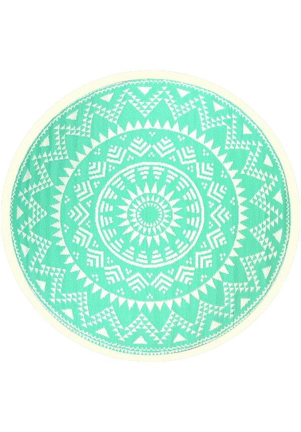 Buitenkleed rond turquoise