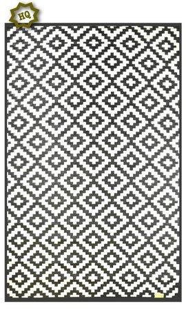 Wonder Rugs Buitentapijt zwart wit