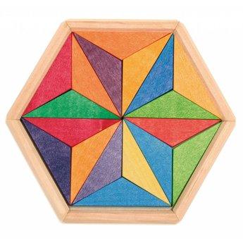 Grimms houten speelgoed Houten mini puzzel complementaire ster