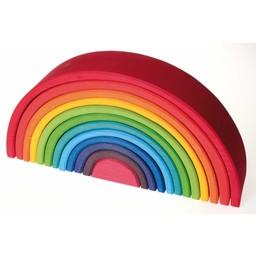 Grimms houten speelgoed Houten regenboog groot - 12 delig