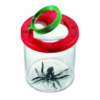 Navir potje met loep voor het bekijken van insecten