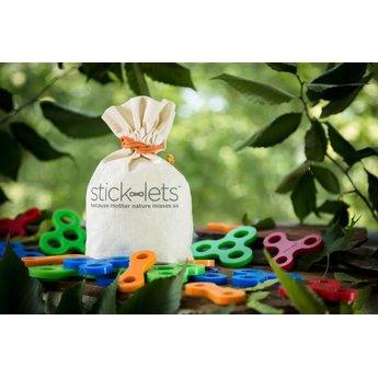Stick-lets constructiemateriaal voor binnen en buiten Dodeka Fort Kit 12 Stick-lets - stevige rubber elastieken om hutten mee te bouwen