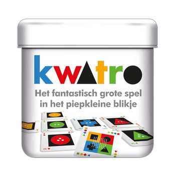 White Goblin Games Kwatro, het fantastische grote spel in een klein blikje