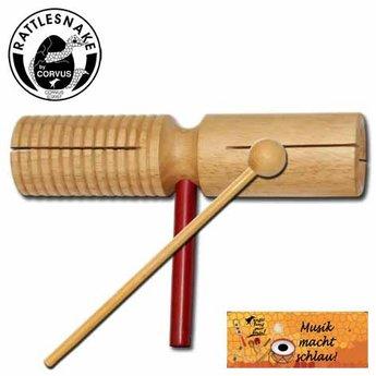 Rattlesnake Agogo, houten percussie instrument