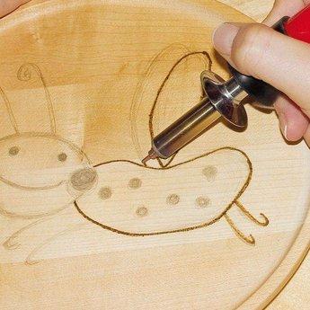 Pebaro Houtbrandpen - graveer hout, kurk en leer met deze pen voor houtbranden