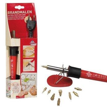 Pebaro knutselgereedschap Houtbrandpen - graveer hout, kurk en leer met deze pen voor houtbranden