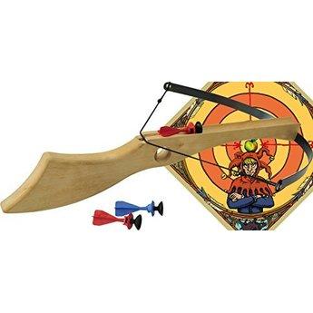 VAH - Spielzeugmanufaktur Kruisboog complete set Wilhelm Tell inclusief 3 pijlen en een houten doel/target