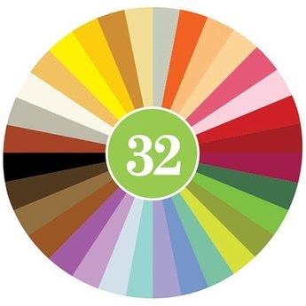 Crayon Rocks sojawaskrijtjes 32 kleuren Crayon Rocks in een ecru katoenen zakje