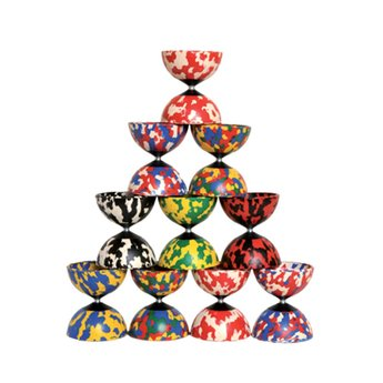 Babache jongleerspeelgoed Diabolo Harlequin 4 kleurig