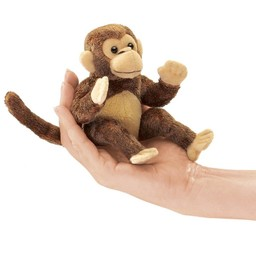 Folkmanis handpoppen en poppenkastpoppen Vingerpopje aap
